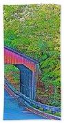 Pierce Stocking Covered Bridge In Sleeping Bear Dunes National Lakeshore-michigan Beach Towel