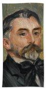 Pierre-auguste Renoir 1841-1919 Portrait Stephane Mallarme Beach Towel