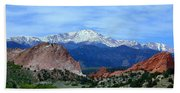 Pikes Peak And Garden Of The Gods 1 Beach Towel