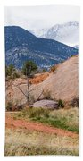 Pikes Peak From Red Rock Canyon Beach Towel