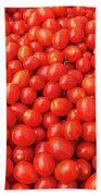 Pile Of Small Tomatos For Sale In Market Beach Towel
