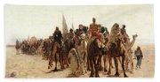 Pilgrims Going To Mecca Beach Towel