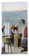 Pilgrims Washing Day, 1620 Beach Towel