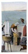 Pilgrims Washing Day, 1620 Beach Sheet