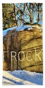 Pilot Rock Iowa Beach Towel