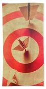 Pin Plane Darts Hitting Goals Beach Sheet