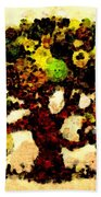 Pinatamiche Tree Painting In Crackle Paint Beach Towel