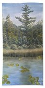Pine And Lily Pads 2  Beach Towel