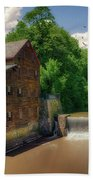 Pine Creek Gristmill Beach Towel
