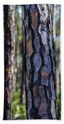 Pine Tree Bark Beach Sheet