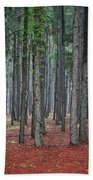 Pine Trees Beach Towel