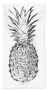 Pineapple Black And White Beach Towel