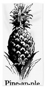 Pineapple Print Beach Sheet
