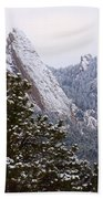 Pines And Flatirons Boulder Colorado Beach Towel