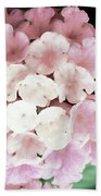 Pink And Green Blossoms Beach Towel