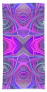 Pink And Purple Beach Towel