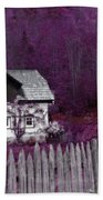 Pink And Purple Enchanted Cottage Beach Towel