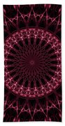 Pink And Red Glowing Mandala Beach Towel