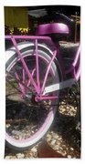 Pink Bicycle Beach Towel