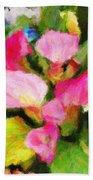 Pink Calla Lilly Beach Towel