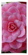 Pink Camellia Dream  Beach Towel