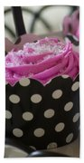 Pink Cupcake Beach Towel