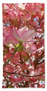 Pink Dogwood Flowering Tree Art Prints Canvas Baslee Troutman Beach Towel