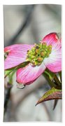 Pink Dogwood Beach Towel by Kerri Farley