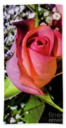 Pink Eye Rose Beach Towel