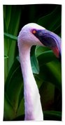 Pink Flamingo Bliss Beach Towel