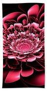 Pink Flower Beach Sheet