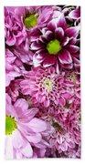 Pink Flower Carpet Beach Sheet
