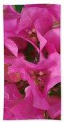 Pink Flower Composition Beach Towel