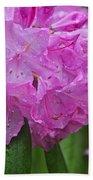 Pink Flower Beach Towel