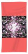 Pink Flower Sky Window Beach Towel