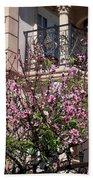 Pink Flower Tree. Elegant Beach Towel