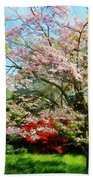 Pink Flowering Dogwood Beach Towel