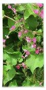Pink Flowering Vine1 Beach Towel