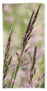 Pink Grass Beach Towel