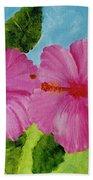Pink Hawaiian Hibiscus Flower #23 Beach Sheet