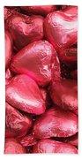 Pink Heart Chocolates I Beach Towel
