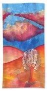 Pink Hills Dream Beach Towel