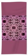 Pink Lace Beach Towel