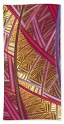 Pink Lines Beach Towel