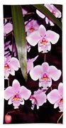 Pink Little Orchids Beach Towel