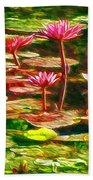 Pink Lotus Flower 2 Beach Towel