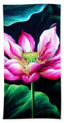 Pink Lotus From L.a. City Park Beach Towel