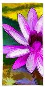 Pink Lotus Gallery  Beach Towel