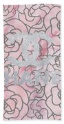 Pink Marble Chanel Beach Towel