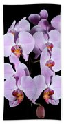Pink Orchid Iv Beach Towel